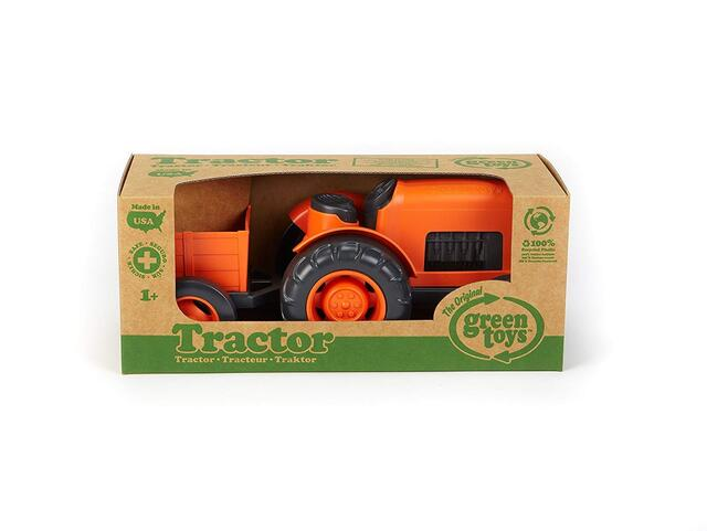 Green Toys - Den orange  Traktor med trailer til den lille landmand. + 1 år